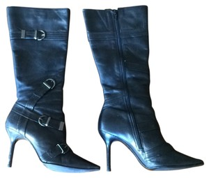 Bronx Sexy Stiletto Leather Black Boots