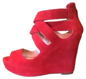 DV by Dolce Vita Red Suede Wedges