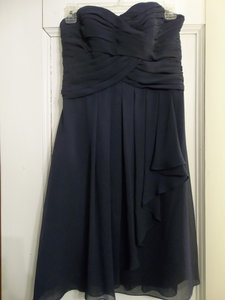 David's Bridal Marine F14847 Modern Bridesmaid/Mob Dress Size 2 (XS)
