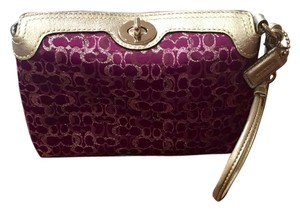 Coach Purple/Silver Clutch