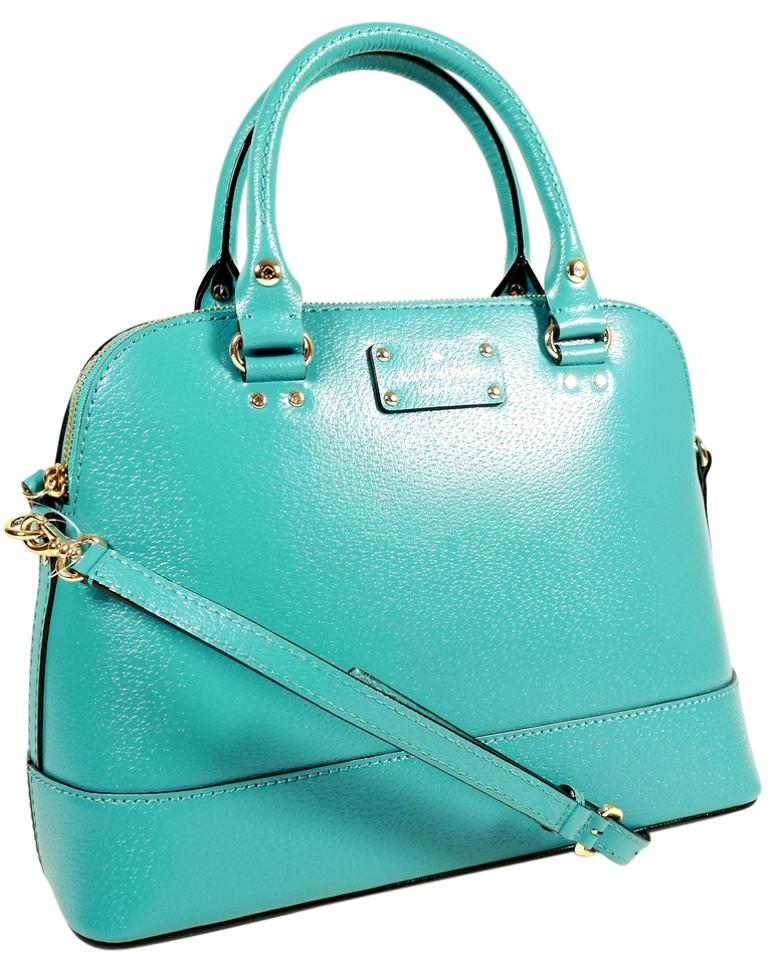 Kate Spade Clearance Small Rachelle Turquoise Satchel on Sale, 33 ...