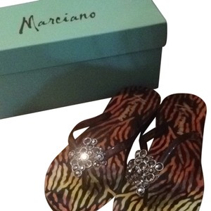 Marciano Gray Synthetic Sandals