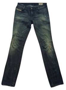 Diesel Straight Leg Jeans-Distressed