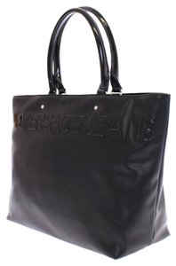Versace Jeans Leather Tote in Black