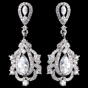 Elegance By Carbonneau Vintage Look Cz Wedding Earrings