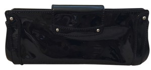 Cole Haan Patent Wallet Leather Black Clutch