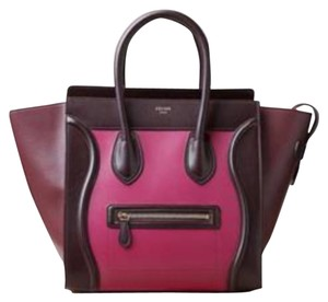 Céline Satchel in Orchid and Deep Wine
