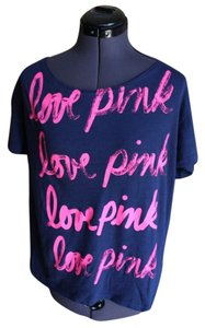 PINK Sexy T Shirt Navy and Pink