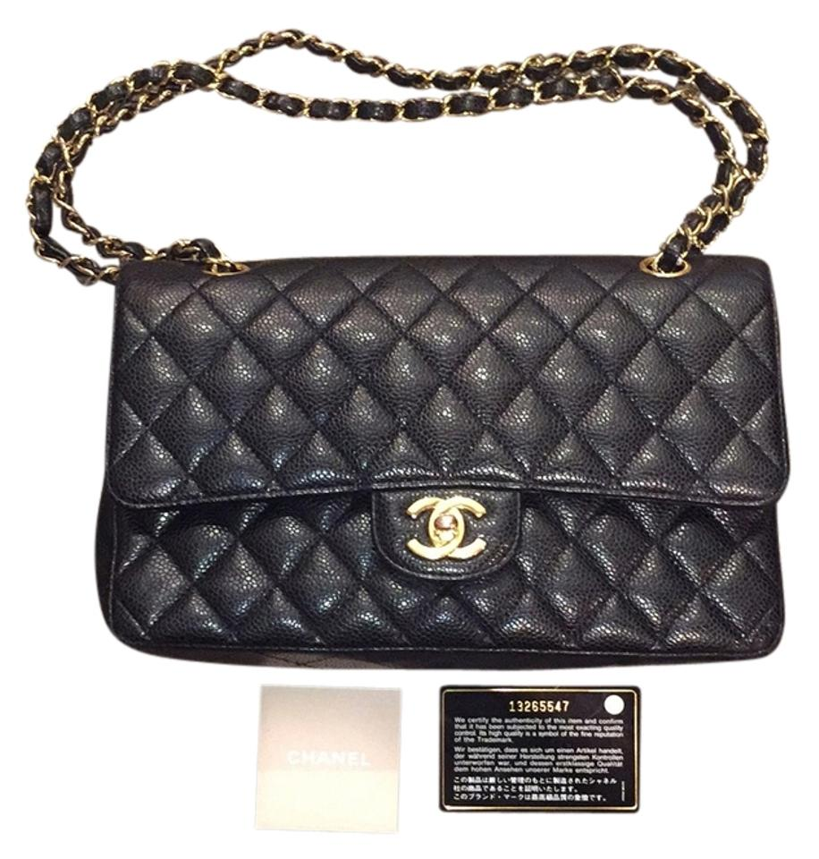 001def840681 Chanel 2.55 Reissue Double Flap Classic Black Caviar Leather Satchel ...