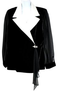 Alex Evenings Formal Cocktail Jacket BLACK Blazer