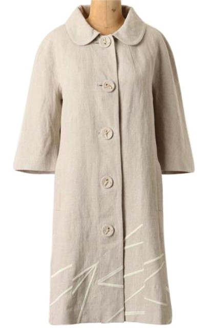 Anthropologie Classic O Timeless Ivory Jacket Image 0