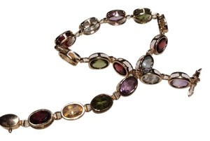 14K Gold Multi-Gem Tennis Bracelet