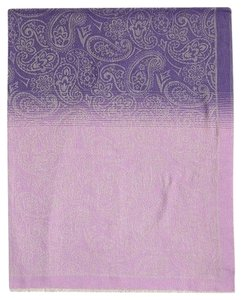 Etro Purple Paisley Wool Throw Wrap