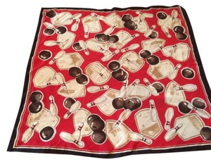 Echo 100% SILK SCARF WITH BOWLING PATTERN