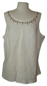 Carole Little Size 20w Linen Tunic