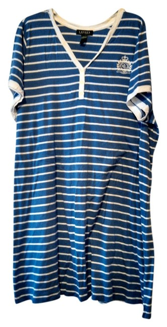 Item - Blue/White Nightgown Size 2x