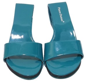 Pierre Dumas Teal Green Sandals