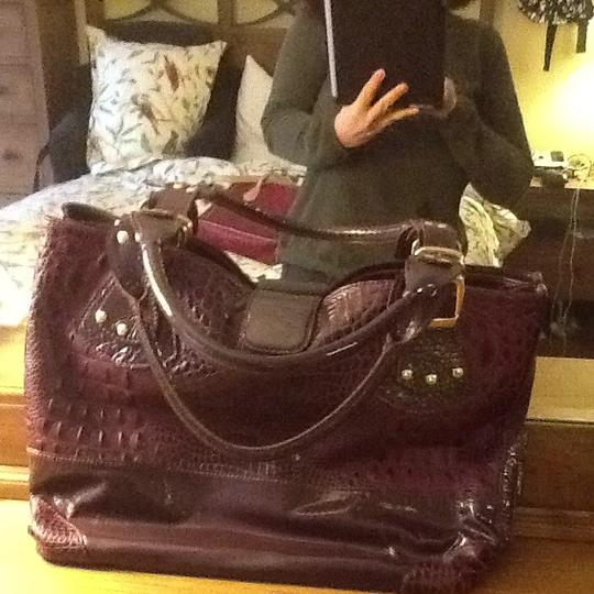 Roberto Vascon Tote in Wine Leather And Patent