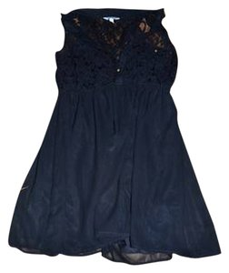 Burlington short dress Black Lace Sheer on Tradesy