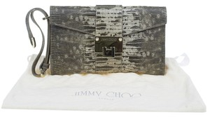 Jimmy Choo Brown and Grey Clutch