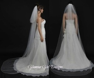 Long 2 Tier Veil In White