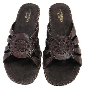 Canyon River Blues Leather Size 10.00 M Good Condition Brown Sandals