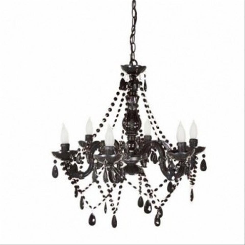 Black Acrylic Chandelier Reception Decoration