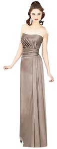 Dessy Full Length Strapless Satin Dress