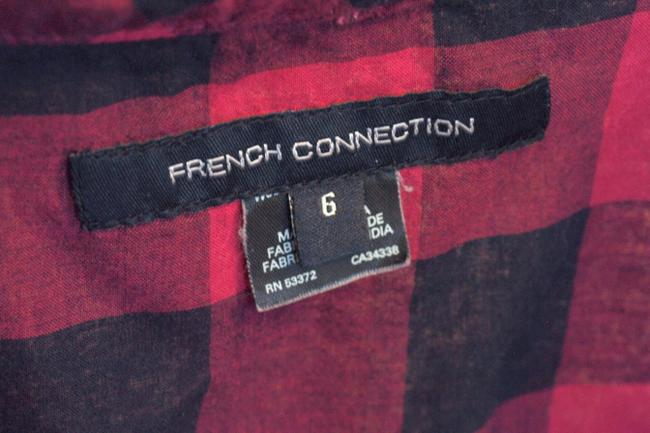 French Connection T Shirt Pink & Navy