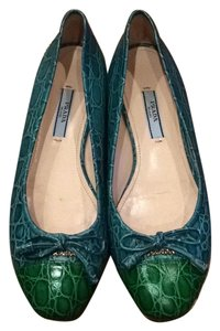 Prada Blue and green Flats