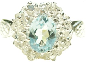 1.90ctw Genuine Blue & White Topaz 925 Sterling Silver Ring 7