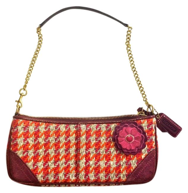 Item - Limited Edition Houndstooth Orange/Pink Wool Baguette