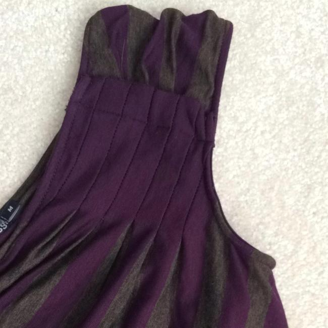 Ella Moss short dress Purple/olive Striped on Tradesy