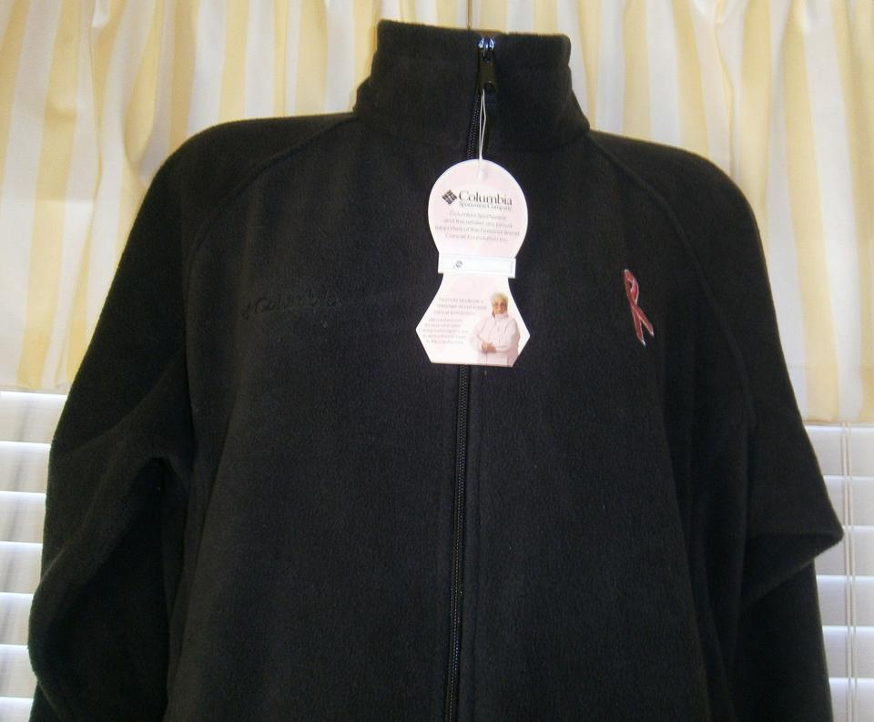 99b401a6e Columbia Sportswear Company Black Breast Cancer Awareness Pink Ribbon Zip  Front Fleece Jacket Size 18 (XL, Plus 0x)