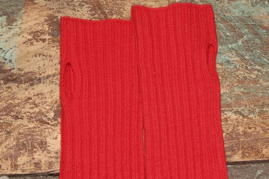 J.Crew J. Crew Ribbed Glovettes- Red - One Size
