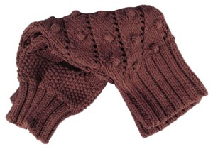 Dior DIOR Brown Wool Blend Textured Knit Leg Warmers 2010