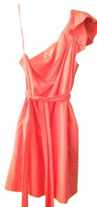 BCBGMAXAZRIA Spring One Shoulder Belted Dress