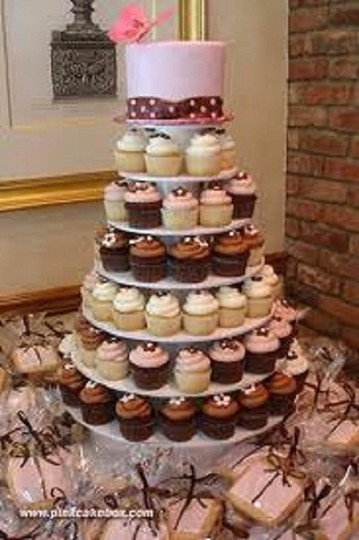 Clear 5 Tier White Round Acrylic Cupcake Stand Tree Tower Cup Cake Display Dessert Tower Other