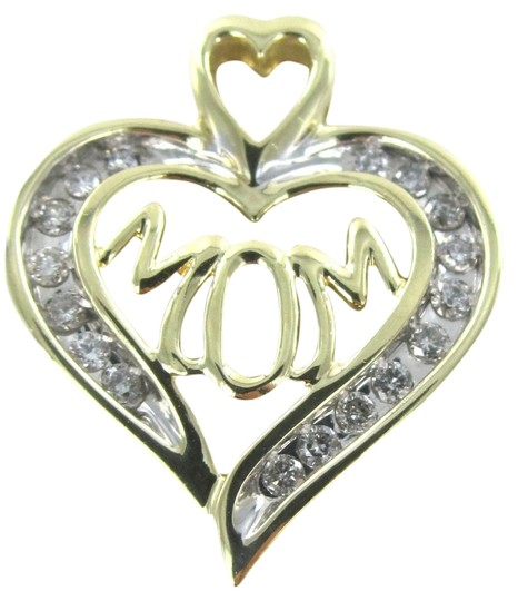 Other 10KT SOLID GOLD 2.4 GRAMS MOM 17 DIA. HEART PENDANT HAPPY MOTHER'S DAY
