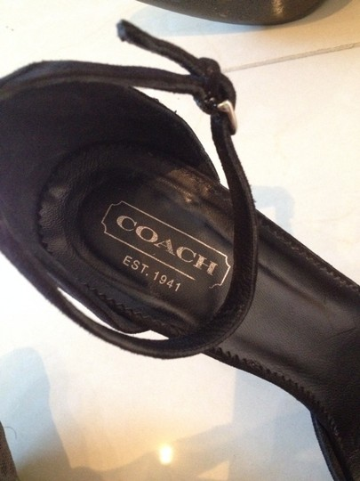 Coach Black Some Tan Sandals