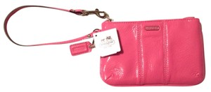 Coach Leather Wrist Night Out Wristlet in Pink Patent