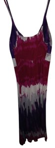One Clothing short dress purple, red, grey Summer Spring Ombre on Tradesy