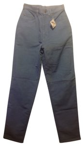 L.L. Bean Womens 6m Tall Relaxed Pants Blue-gray