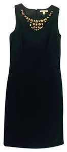 Banana Republic Embellished Exposed Zipper Dress