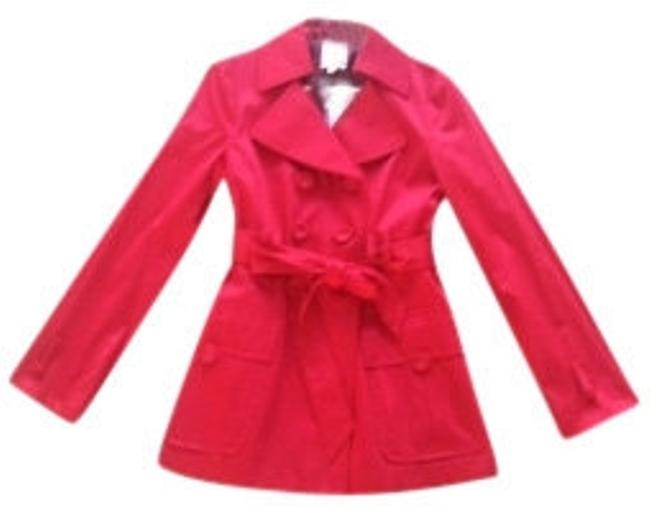 Preload https://img-static.tradesy.com/item/7482/nanette-lepore-crimson-red-supreme-trench-coat-size-6-s-0-0-650-650.jpg