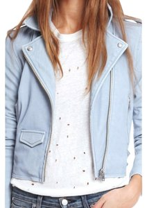 IRO Rag & Bone Burberry Vince Blue Leather Jacket