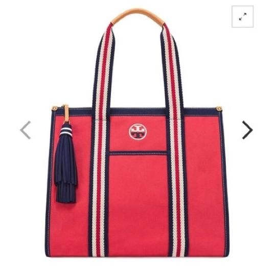 Tory Burch Tote in Cherry Apple Image 1