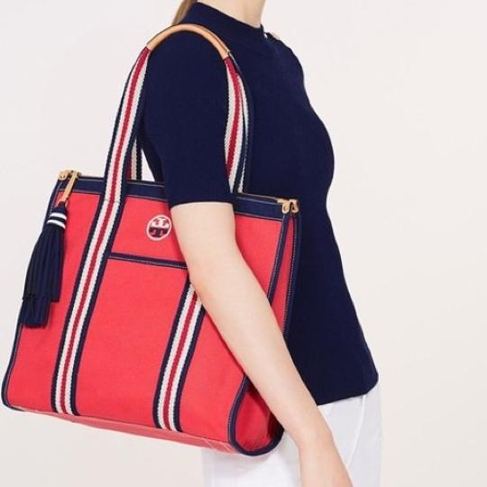 Tory Burch Tote in Cherry Apple Image 3