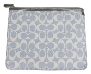 Coach * Coach CC Monogram White/Blue iPad Case