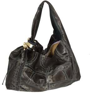 Jimmy Choo Large Snakeskin Hobo Bag